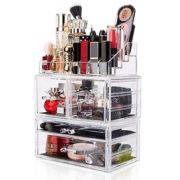 Makeup Organizer 3 Pieces Acrylic Cosmetic Storage Drawer