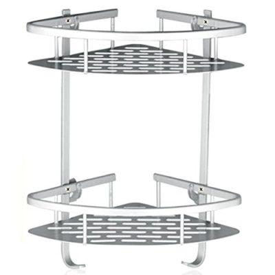 Shower Shelf Kitchen Storage Basket Adhesive Suction Corner