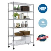 PayLessHere 6 Tier Chrome Commercial Adjustable Steel Shelving Systems