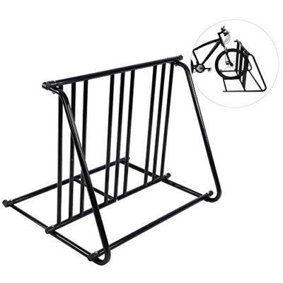 GOTOTOP Bikes Floor Mount Parking HD Steel Rack Storage Bicycle Yard Outdoor Stand