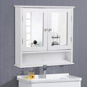 Yaheetech Medicine Cabinets Wooden Bathroom