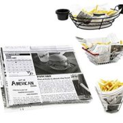Mannily Food Grade Tissue Paper Food Basket Liners