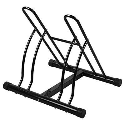 OneTwoFit Bike Racks 2-Bike Floor Stand Bicycle Cycle Stand Garage Bicycle Storage