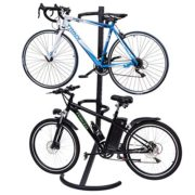 Goplus Gravity Freestanding Bike Stand Adjustable Height Two-Bike Storage