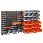 VonHaus 44 Piece Wall Mounted Pegboard Hook, Storage Bins and Panel Set
