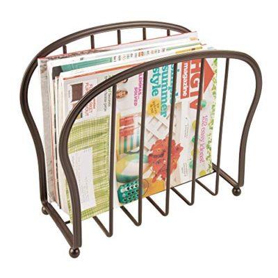 Decorative Metal Wire Magazine Holder, Organizer