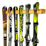Handcrafted Ski Storage Rack | Holds 6 Pairs | Cedar Wood Ski Display