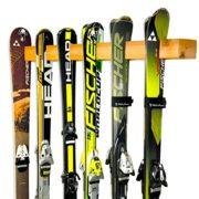 Handcrafted Ski Storage Rack | Holds 6 Pairs | Cedar Wood Ski Display