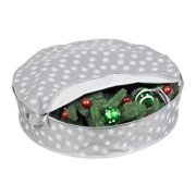 Christmas Wreath Storage Bag - (36 inch) Xmas and Holiday Wreath Storage Container Snowflake Ornament Design to Protect Against Dust, Moisture, and Damage While Preserving Precious Memories