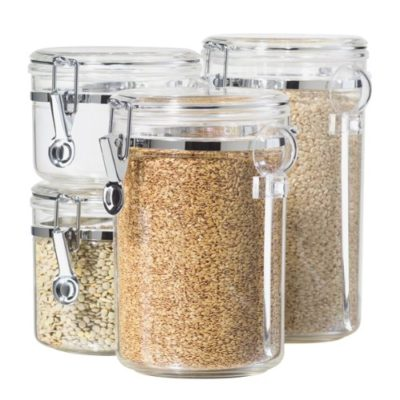 4-Piece Acrylic Canister Set with Airtight Lids