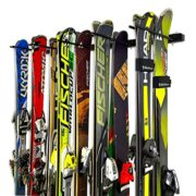 StoreYourBoard Omni Ski and Snowboard Wall Storage Rack | Holds 10 Pairs | Ski Wall Mount Home & Garage Storage Hanger