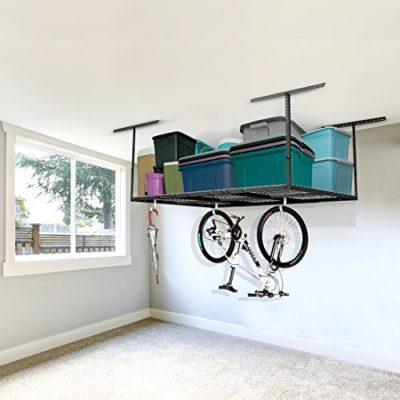 FLEXIMOUNTS 4x6 Heavy Duty Overhead Garage Adjustable Ceiling Storage Rack