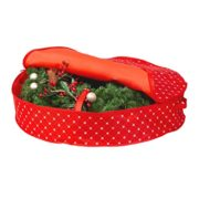 Christmas Wreath Storage Bag - (30 inch) Xmas and Holiday Wreath Storage