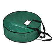 "ProPik Wreath Storage Bag Polyester Tear Resistant Fabric for Holiday Easy Storage Featuring Heavy Handel's and Transparent Card Slot 36"" X 36"" X 8"" (Green)"