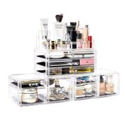 Makeup Organizer 4 Pieces Acrylic Jewelry and Cosmetic Storage