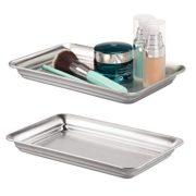 Metal Storage Organizer Tray for Bathroom Vanity Countertops