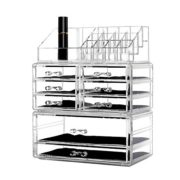 Grid Stackable Cosmetic Makeup Storage Cube Organizer