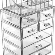 Cosmetic Makeup and Jewelry Storage Case Display