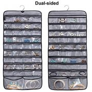 Jewelry Organizer with Rotating Hanger Dual Sides 76 Pockets