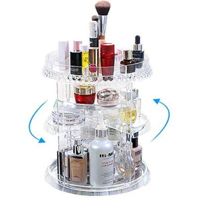 Miserwe Makeup Organizer 360 Degree Rotation