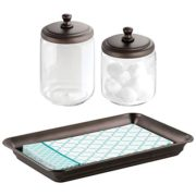 mDesign Metal Vanity Tray for Towels or Cosmetics
