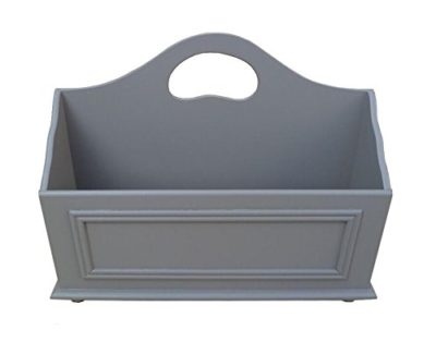 Wooden Storage Basket for Books, Newspapers, Files, and Folders