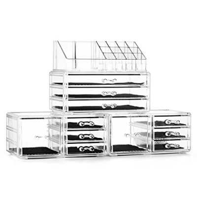 Cosmetic Storage Boxes Makeup Organizer Set