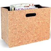 Foldable Newspaper Storage Bin Organizer