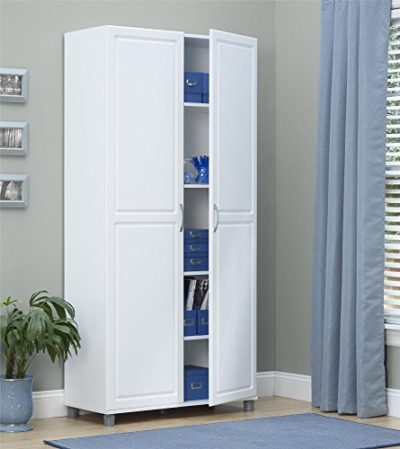 """SystemBuild 7363401PCOM Kendall Storage Cabinet 36"""" White"""