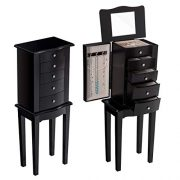 Giantex Jewelry Chest Armoire Cabinet Standing with Mirror
