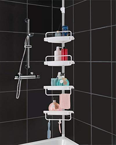 HomeHelper Tension Corner Shower Caddy
