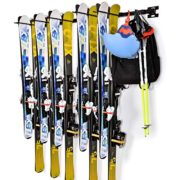 Sunix Ski Wall Storage Rack, Ski and Snowboard Wall Storage Rack Home and Garage Ski Mount Hold up 10 Pairs, 2 Pack