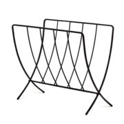 Spectrum Diversified Seville Magazine Rack, Black