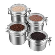 Stainless Steel Airtight Canister Set, Beautiful Food Storage