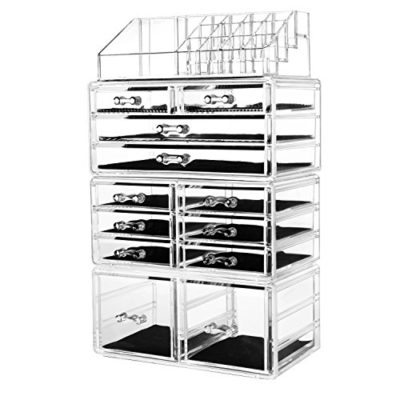 Makeup Organizer Acrylic Cosmetic Storage Drawers and Jewelry Display Box