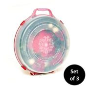 Homz Holiday Wreath Plastic Storage Box with Clear Lid