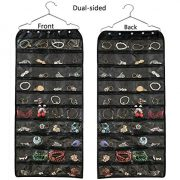 Hanging Jewelry Organizer,Accessories Organizer, Oxford 80 Pocket