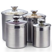 Cooks Standard 02553 4-Piece Canister Set Stainless Steel