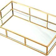 PuTwo Tray Mirror, Gold Mirror Tray Perfume