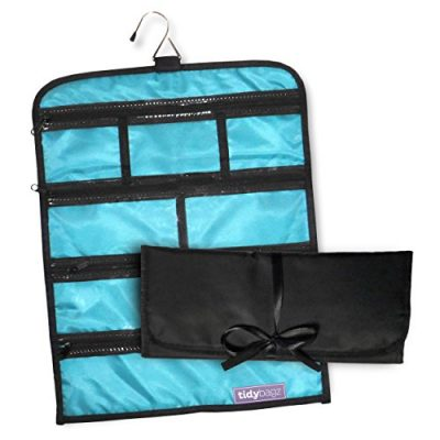 Tidybagz   Jewelry Roll Bag   Travel & Home Organizer   Safe, Elegant, Zippered Solution to Jewelry Organization   Large 7 Compartment Roll Bag
