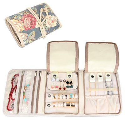 Teamoy Travel Jewelry Roll, Jewelry Storage Bag Organizer