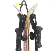 YYST Vertically Ski Wall Mount Ski Wall Hanger Wall Rack - Fit Most Boards - Black