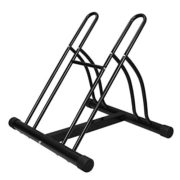 F2C 2-Bike Rack Bicycle Floor Stand Two Bike Parking Garage Storage Rack for Indoor and Outdoor