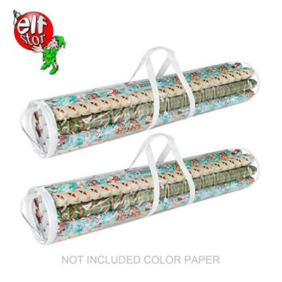 Elf Stor 83-DT5054 Gift Wrap Storage Bags Holds 40-Inch Rolls of Paper-2 Pack