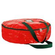 "ZOBER Christmas Wreath Storage Bag 36"" - Water Resistant Fabric Storage"