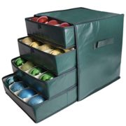 Vencer Green Drawer Christmas 64 Ornament Storage