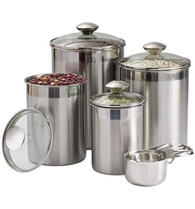 Beautiful Canisters Sets for the Kitchen Counter, 8-Piece