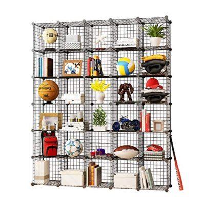 KOUSI Storage Cubes Wire Grid Modular Metal Cubbies Organizer Bookcases