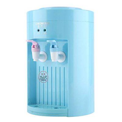 Water Dispenser - Mini Desktop Electric Top Loading Boiling Water Dispenser Machine 220V Blue Pink (Color : Blue)