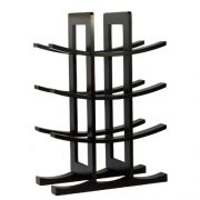 Oceanstar 12-Bottle Bamboo Wine Rack, Dark Espresso